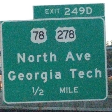 North Avenue sign