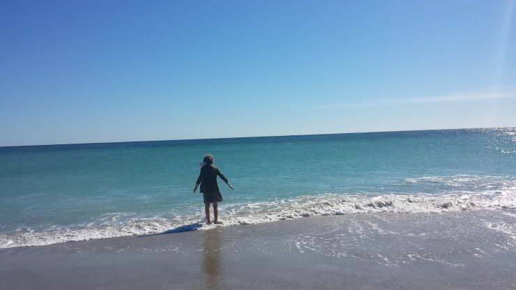 Elise and I met up at Cucalorus in November 2015 and did a lovely ritual at Wrightsville Beach about letting go and calling for what we wanted.