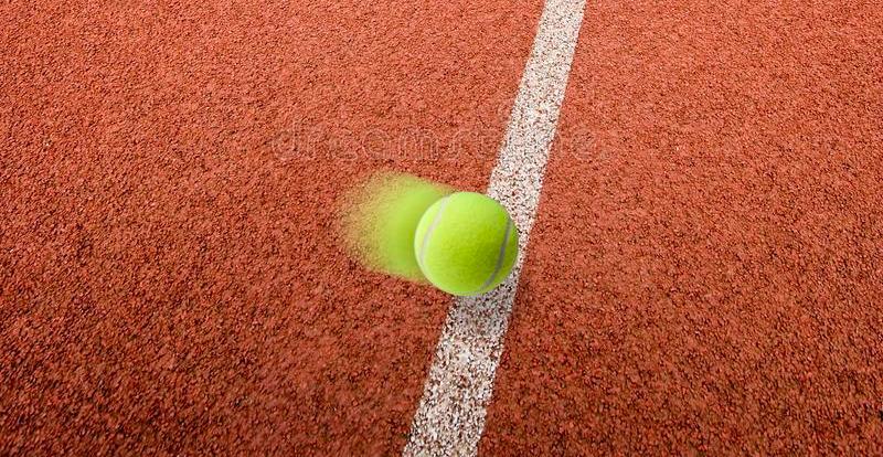 a bounding tennis ball